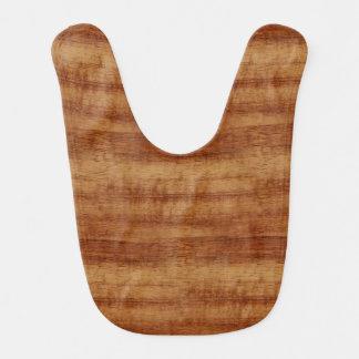 Curly Koa Wood Grain Look Bib