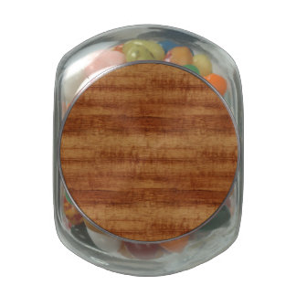 Curly Koa Wood Grain Look Jelly Belly Candy Jars