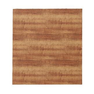 Curly Koa Wood Grain Look Notepads