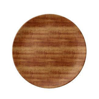 Curly Koa Wood Grain Look Plate