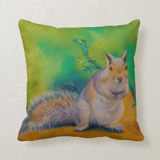Curly, Larry and Moe Squirrels Throw Pillow