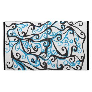 Curly lines iPad folio case