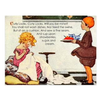 Curly Locks, Curly Locks, Will You Be Mine? Postcard