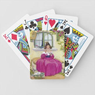 Curly Locks Wilt Thou Be Mine Nursery Rhyme Bicycle Playing Cards