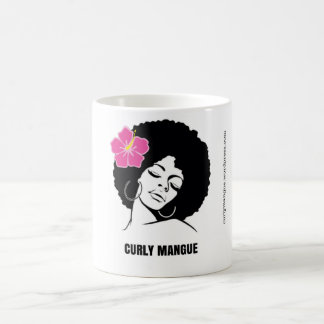 Curly Mangue, cup of woman with natural hair