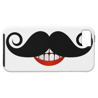 Curly Mustache and Fun Smile iPhone 5 Cases