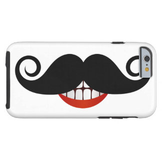 Curly Mustache and Fun Smile Tough iPhone 6 Case