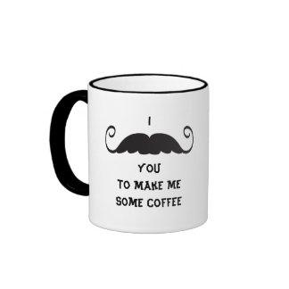 Curly Mustache Coffee Funny I Mustache You Mugs