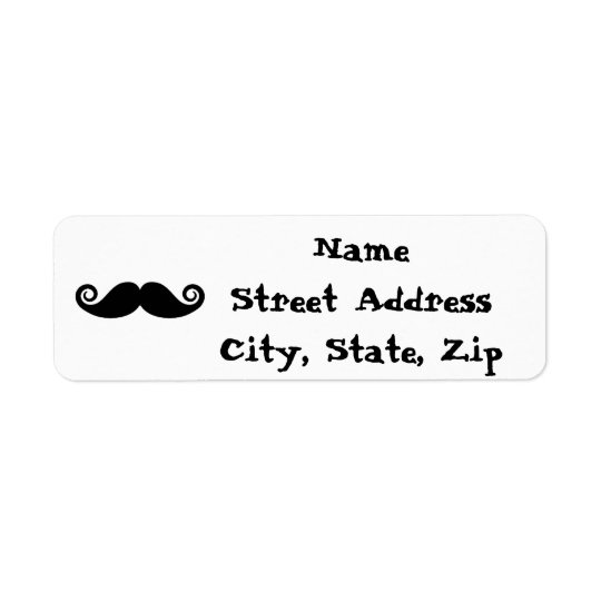 Curly Mustache Label