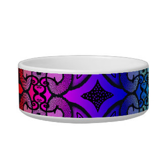 Curly N Rainbow Pet Water Bowls