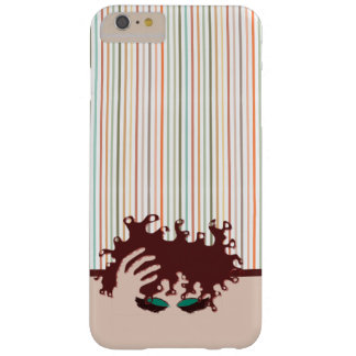 Curly Natural, Teal Eye Shadow and maroon stripe Barely There iPhone 6 Plus Case