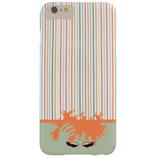 Curly Natural, Teal Eye Shadow and peach stripe Barely There iPhone 6 Plus Case