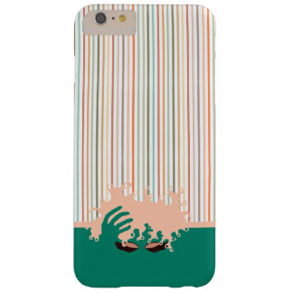 Curly Natural, Teal Eye Shadow and pink stripe Barely There iPhone 6 Plus Case