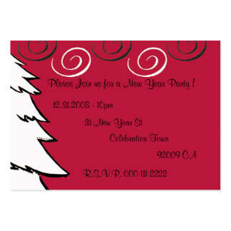 Curly Party In New Year 2009 - Customized Large Business Cards (Pack Of 100)