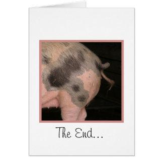 Curly Piggy Tail Card