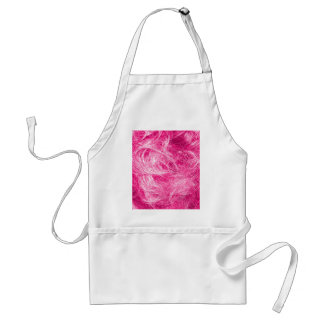 Curly Pink Hair Adult Apron