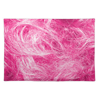 Curly Pink Hair Place Mat