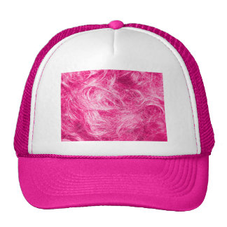 Curly Pink Hair Trucker Hat