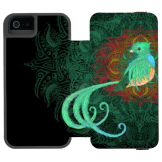 Curly Quetzal Wallet Case For iPhone SE/5/5s