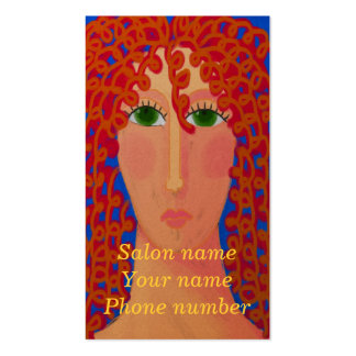 Curly Red Hair Business Card