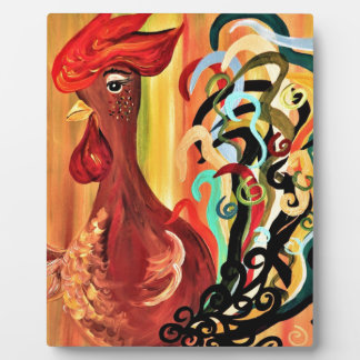 Curly Rooster Plaque