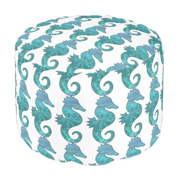 Beach Themed Curly Seahorse Pouf