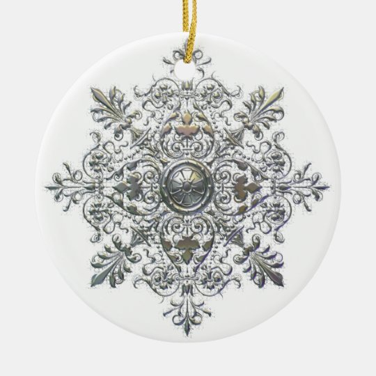Curly Snowflake Ornament