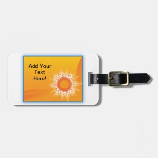 Curly Sunshine Customizable Design Bag Tag