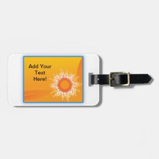Curly Sunshine Customizable Design Bag Tag