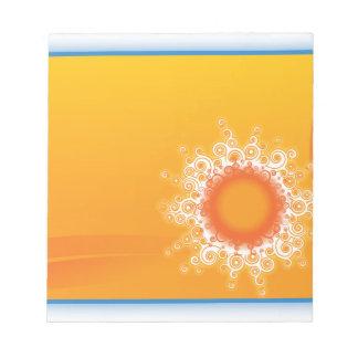 Curly Sunshine Customizable Design Memo Notepads
