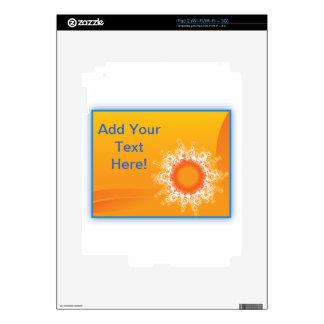 Curly Sunshine Customizable Design Skins For iPad 2