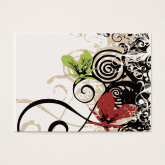Curly, Swirl, flowers Business Cards