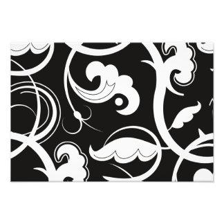 Curly Swirls (Curved Swirls) - Black White Photo Print