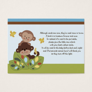 Curly Tails Monkey Friends Favor Tag/Request card
