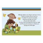 Curly Tails Monkey Friends Favor Tag/Request card Large Business Cards (Pack Of 100)