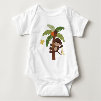 Curly Tails Monkeys Baby Shirt