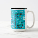 Curly Tails Squishy Faces Pug Two Tone Mug