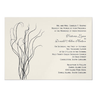 Curly Willow Wedding Invitation