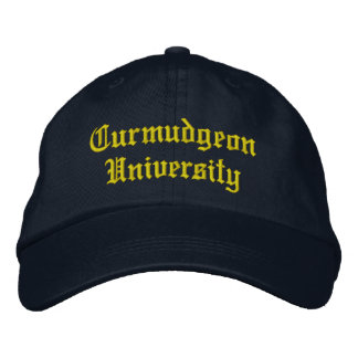 Curmudgeon University Baseball Hat Embroidered Hats