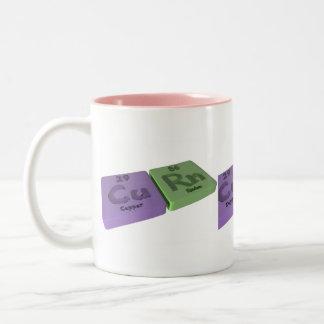 Curn as Cu Copper and Rn Radon Two-Tone Coffee Mug