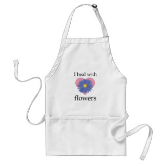Curo con las flores delantal