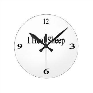 Curo ovejas reloj de pared