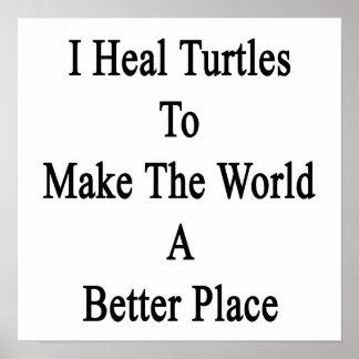 Curo tortugas para hacer el mundo un mejor lugar impresiones