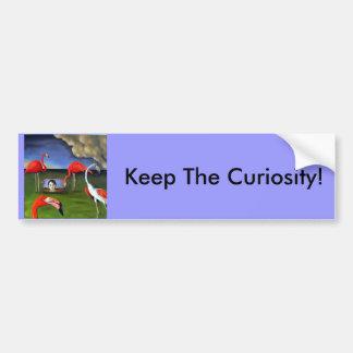 Curoisity-Flamingos Bumper Sticker