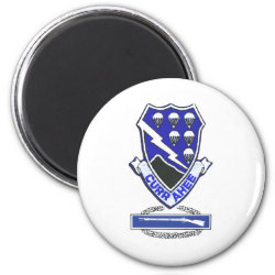 Currahee Patch & CIB 2 Inch Round Magnet