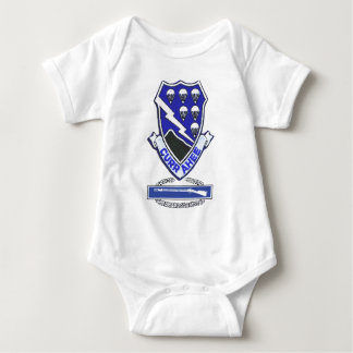 Currahee Patch & Combat Infantry Badge Baby Bodysuit