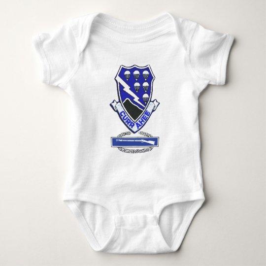 Currahee Patch & Combat Infantry Badge Baby Bodysuit