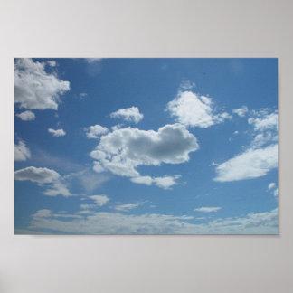 Currambine Skyscape con las nubes dispersadas en a Poster