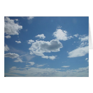 Currambine Skyscape With Scattered Clouds On Blue Cards