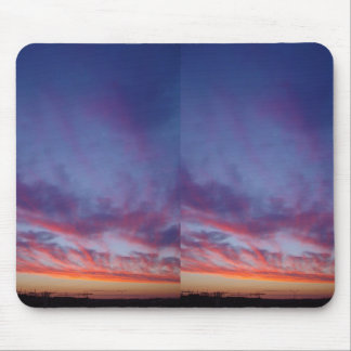 Currambine Sunset With Spray Of Clouds On Western Mouse Pad